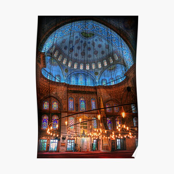 HDR: Blue Mosque, Istanbul, Turkey (view larger) Poster