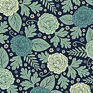 Light Blue Floral Pattern by somecallmebeth