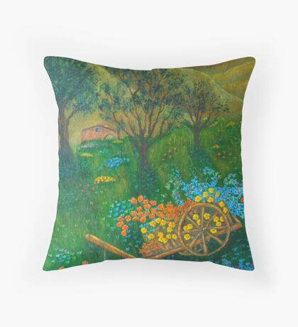Val D'Orcia At Sunset Throw Pillow