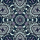 Lila und blaues Muster von maddy-drye