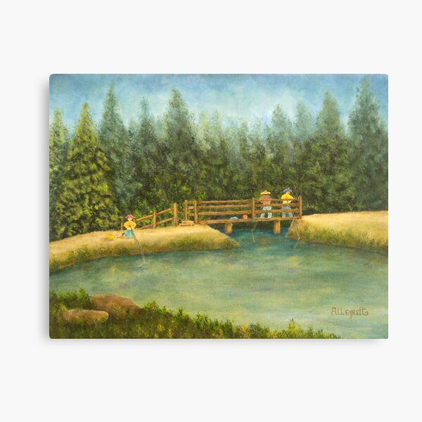 Fishing In New England Canvas Print