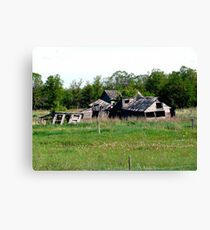 Abondoned on the Prairies Canvas Print