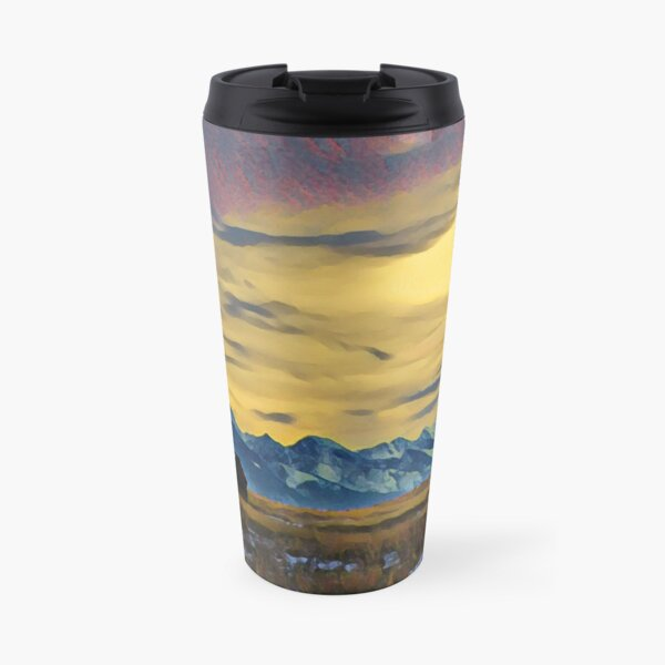 Mission Mountains Shed  Travel Mug