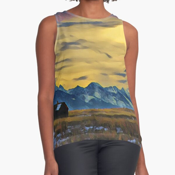 Mission Mountains Shed  Sleeveless Top