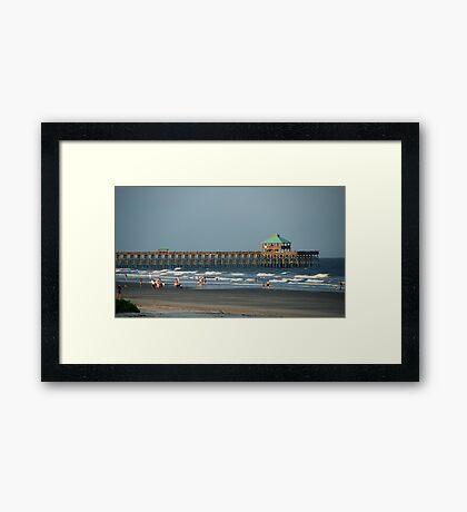 Folly Beach Pier Framed Print