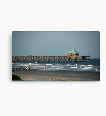 Folly Beach Pier Canvas Print