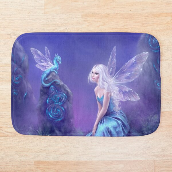 Luminescent Fairy & Dragon Art Bath Mat