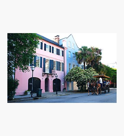 Rainbow Row in Charleston Photographic Print