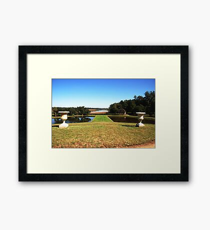 Looking down to the Ashley River - Middleton Place Charleston Framed Print
