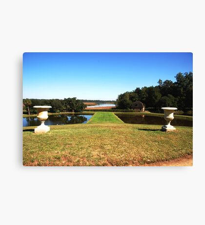Looking down to the Ashley River - Middleton Place Charleston Canvas Print