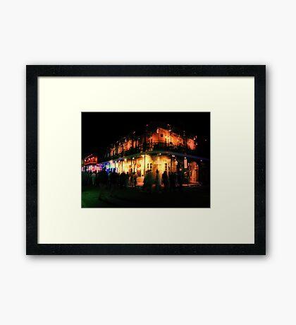 Ghosts of Bourbon Street Framed Print