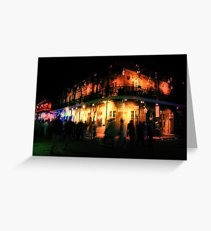 Ghosts of Bourbon Street Greeting Card