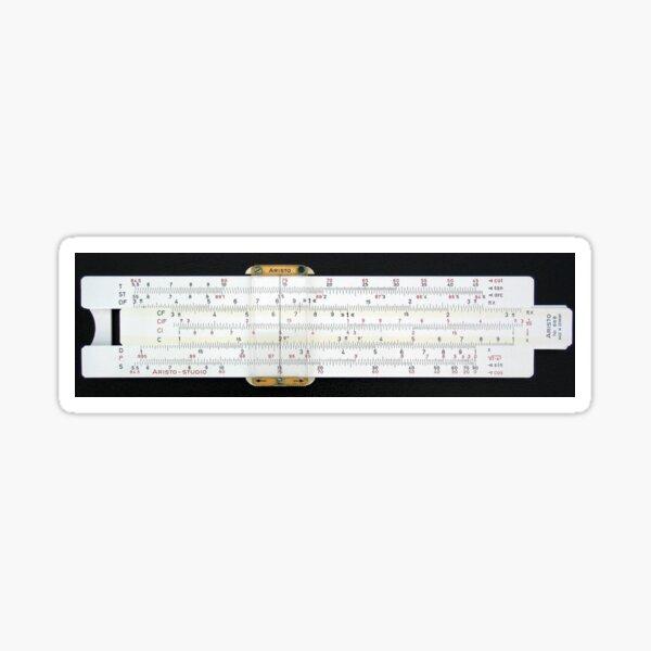 Slide rule, #slipstick, mechanical analog #computer, graphical analog #calculators, #nomograms, general calculations, application specific computations Sticker