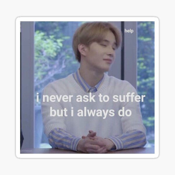 jungwoo is suffering Sticker