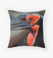 African Ground Hornbill Throw Pillow