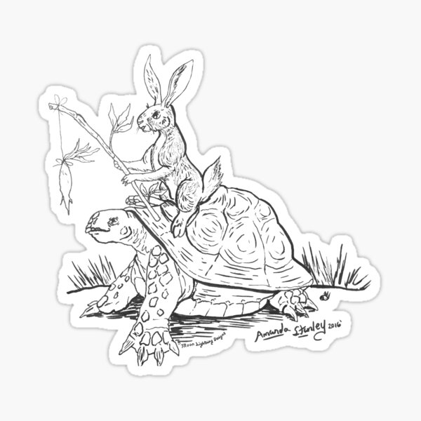 The Tortise and the Hare Sticker