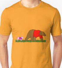 Winnie, and Piglet Unisex T-Shirt