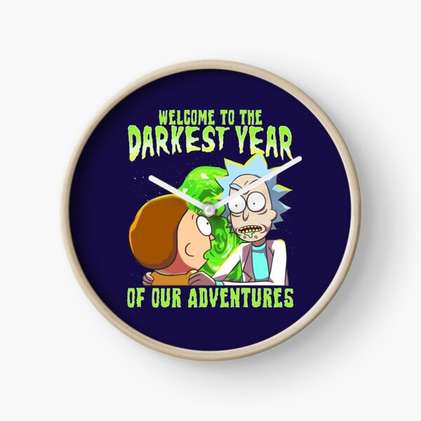 Rick and Morty - Welcome to the Darkest Year of Our Adventures Clock