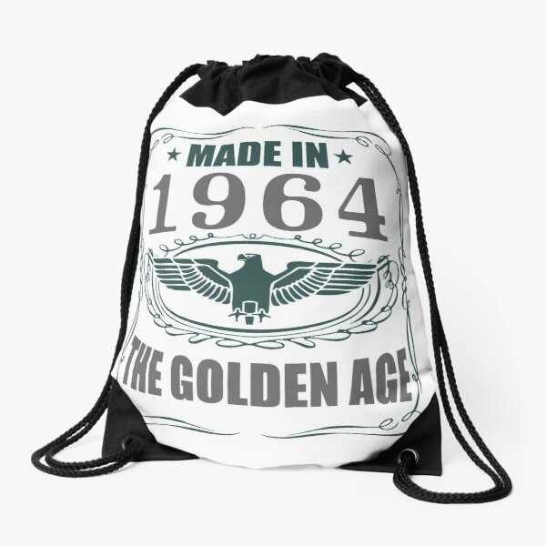 Made In 1964 - The Golden Age Drawstring Bag