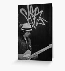 Street Guitarist Greeting Card