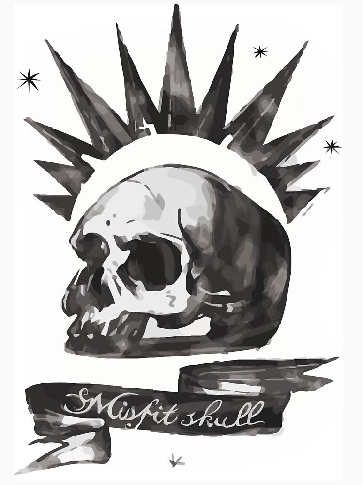 Chloes Shirt - Misfit Skull von scolecite