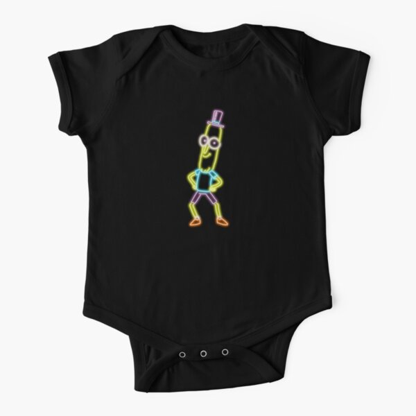 Neon Mr Poopybutthole Short Sleeve Baby One-Piece