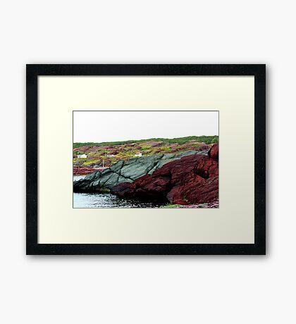 Red Rock Green Rock Framed Print
