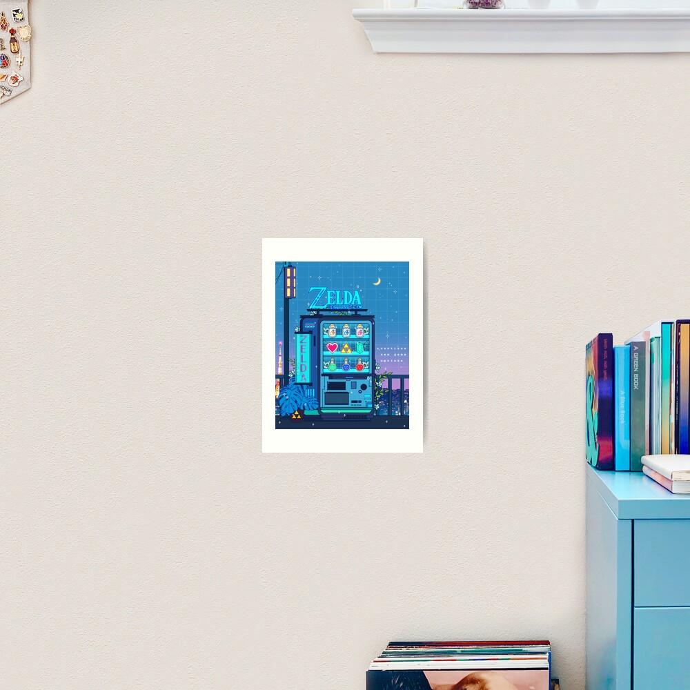 Zelda Vending Machine Art Print