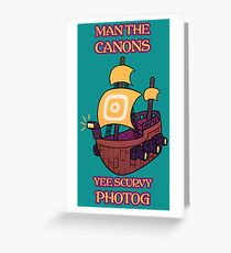 Man the Canons Greeting Card