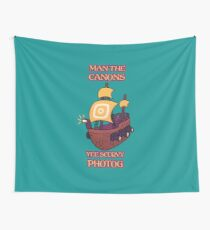 Man the Canons Wall Tapestry