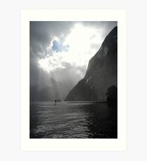 Milford Sound Sunrays Art Print
