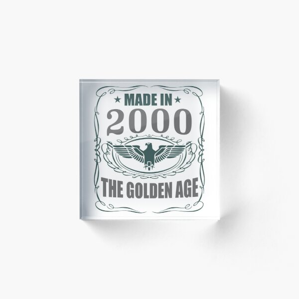 Made In 2000 - The Golden Age Acrylic Block