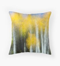 Aspens Doing Their Shimmery Dance Throw Pillow