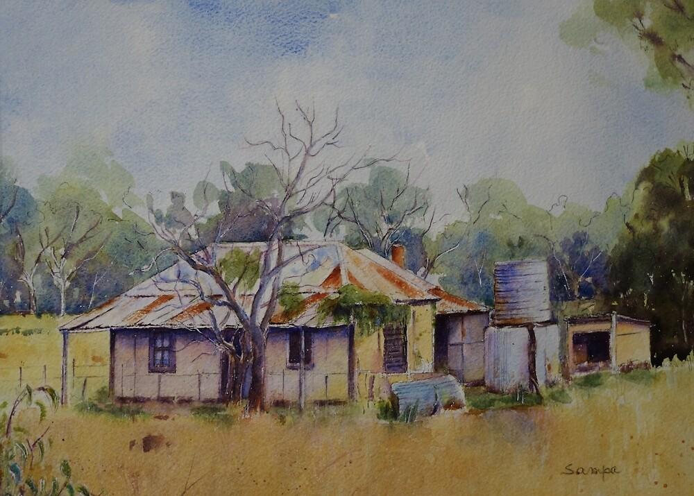 Verlassenes Häuschen nahe Narrabri NSW von Sampa Bhakta