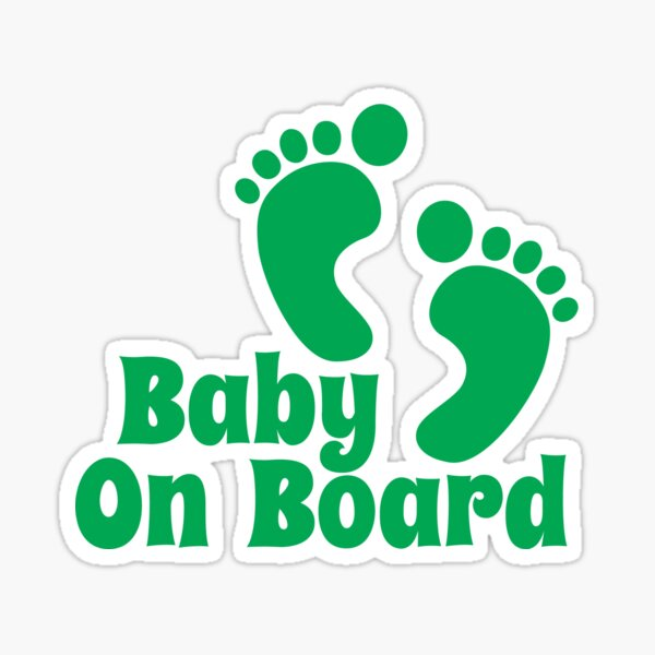 Baby On Board Foot Print Funny Car Child Children Window Sticker Decal Pink Blue