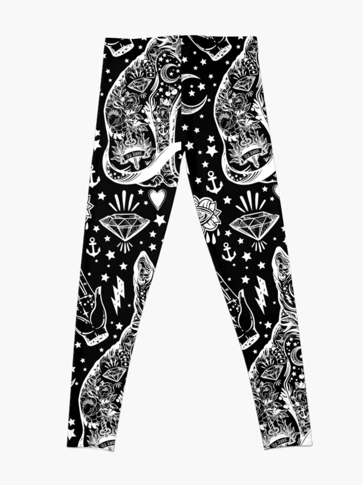 Vista alternativa de Leggings Diseño abstracto de los gatos del espacio.