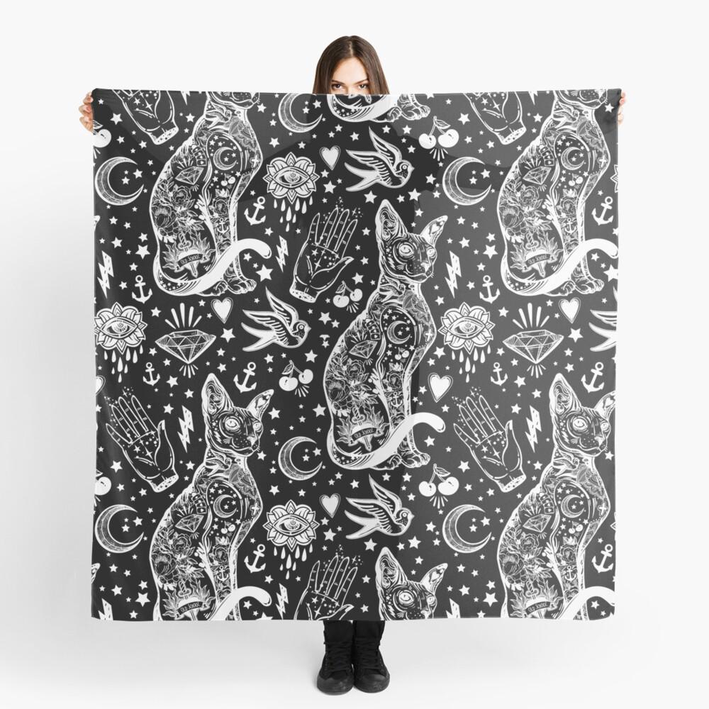 Diseño abstracto de los gatos del espacio. Pañuelo