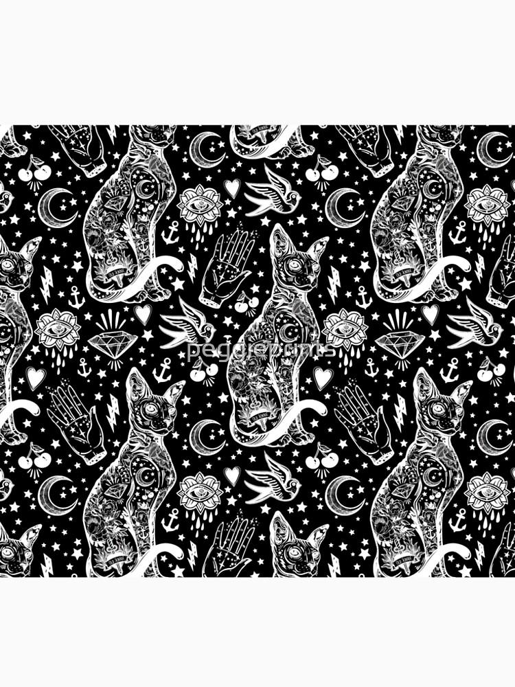 Diseño abstracto de los gatos del espacio. de peggieprints