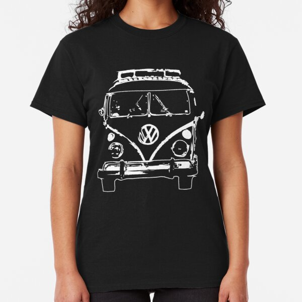 Bus Brothers Ladies Womens T Shirt Split Screen Camper Van Samba VW Volkswagen