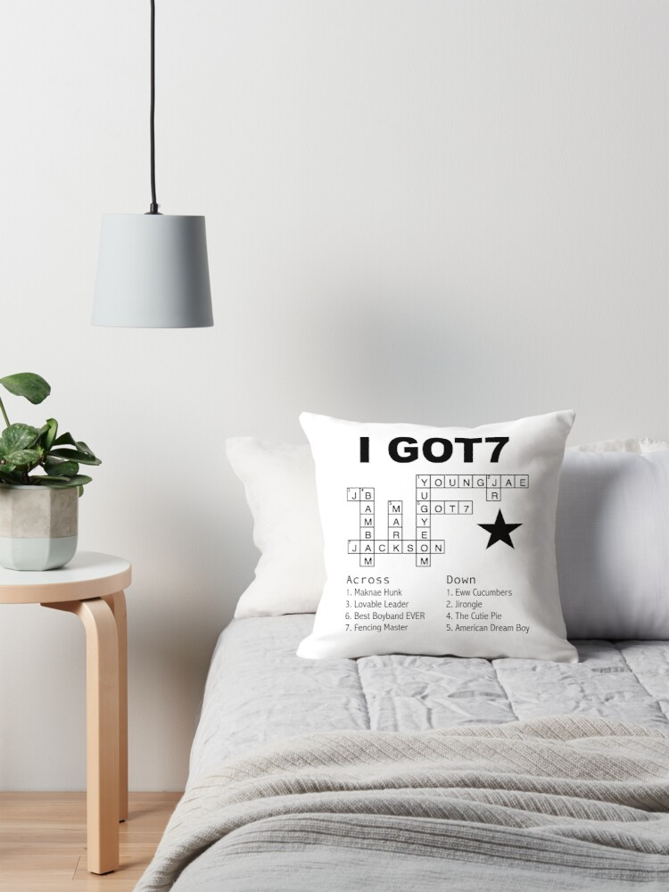 "GOT7 Crossword Puzzle"" Throw Pillows by kpoplace"