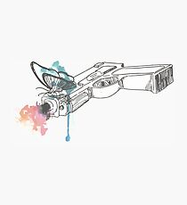 Life is Strange Gun Watercolored Photographic Print