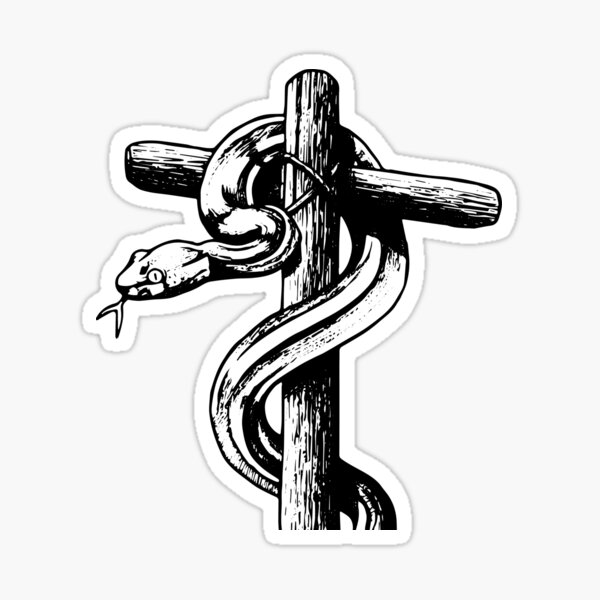 He is Our Serpent Upon the Wood | Old Testament Prefiguration of the Crucifixion Sticker