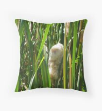 Fluffy Cat O Nine Tails Throw Pillow