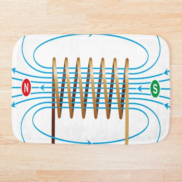 #Electromagnetic #Coil #ElectromagneticField #Physics  Bath Mat