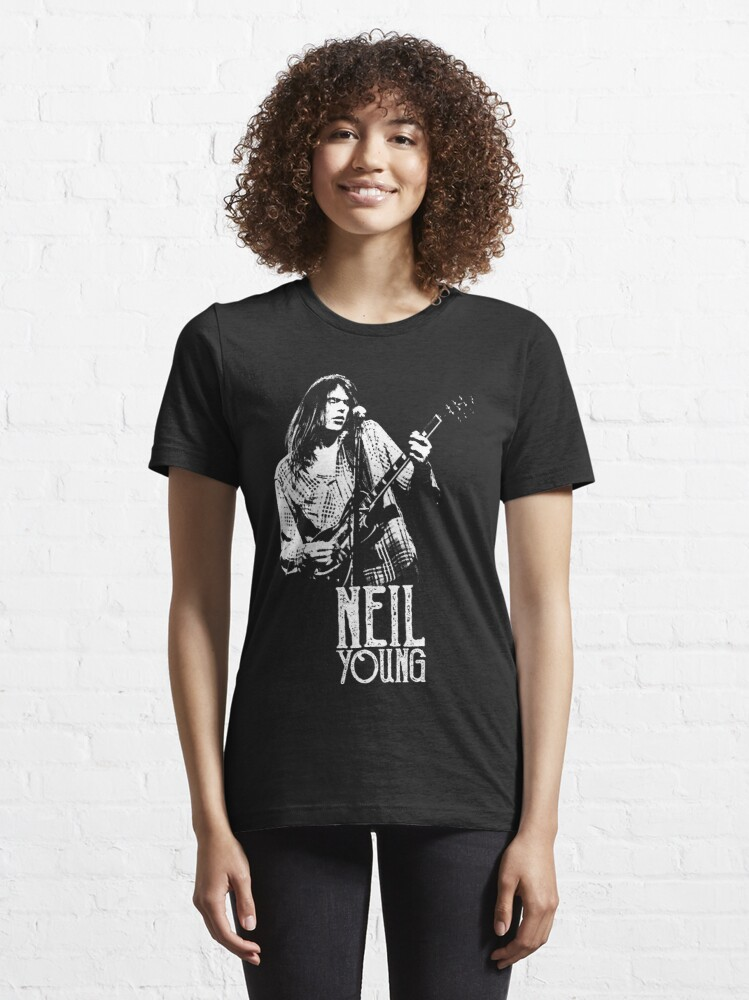 Alternate view of Young Neil - The White Stencil Essential T-Shirt