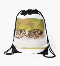 Desert Rain Frogs Drawstring Bag