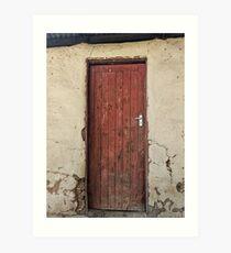 Red wooden door Art Print