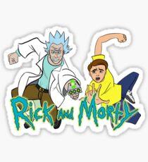 Rick and morty manga style Sticker