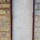 Old white door by Angela Ferguson