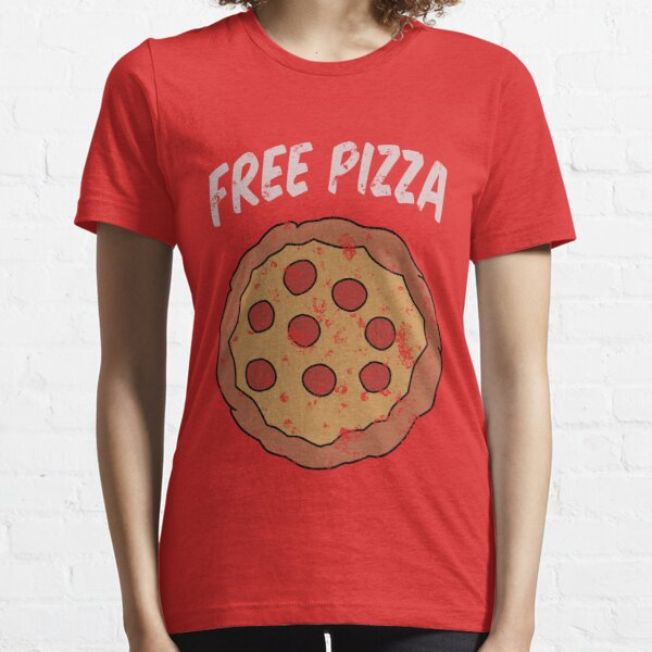 Free Pizza Guy (print on RED for best results) Essential T-Shirt